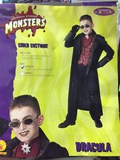 DRACULA CHILD COSTUME WITH GLASSES UNIVERSAL STUDIOS MONSTERS SIZE MEDIUM RUBIES