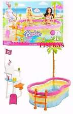 Barbie Beach Party Pool Playset Bird Lifeguard Chair Set 2008 N4949 NEW