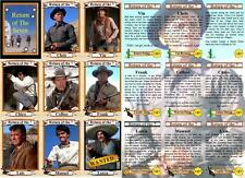 The Return of the Magnificent Seven movie trading cards. Brynner, Fuller, Oates