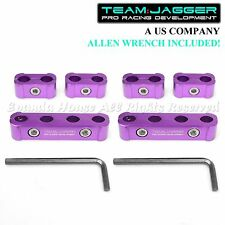 FOR CHEVY ONLY! 6PC USA SUV ANODIZED ALUMINUM SPARK PLUG WIRE SEPARATORS PURPLE