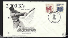 David Cone 2000th strike out Mark Mcgwire 1997 USPS collectible stamped Envelope