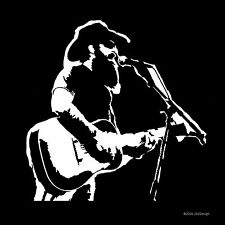 Cody Jinks Country Music Singer Songwriter Guitar Decal Sticker White