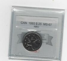 **1993** Coin Mart Graded Canadian,25 Cent, **MS-67 NBU**
