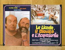 LA LICEALE IL DIAVOLO E L'ACQUASANTA fotobusta poster Gloria Guida Banfi Vitali