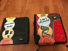 Case It  Z Sewn-View Binder and 2-in-1 Organizer ( Red and Black)