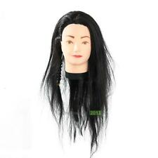 Practice Training Head Human Long Hair Model Hairdressing Mannequin Doll Tool