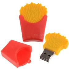 64GB Cartoon Genuine Fries Model USB 2.0 Flash Memory Pen Drive Stick Red SR1G
