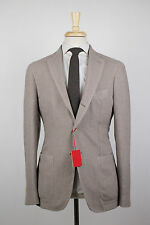New. ALTEA Ivory Tweed Wool Blend 3 Roll 2 Button Sport Coat Blazer 52/42 R