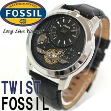 FOSSIL MEN'S TWIST LUXURY SKELETON COLLECTION BLACK WATCH ME1113