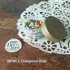 36 Low Profile 1/3 oz Container Jars 2 tsp cosmetic 3801 GOLD Caps DecoJars USA