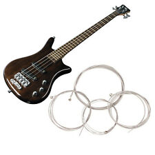 4Pcs Pro String Bass Guitar Parts Stainless Steel Plated Gauge Strings Silver
