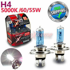 For NISSAN MICHIBA H4 60W/55W 5000K Xenon WHITE Halogen Light Bulbs High Beam 2P