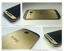 Brushed Metal Skin Sticker For HTC ONE MINI 2 (2014) Wrap Cover decal cover case
