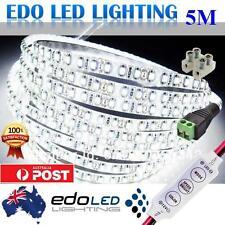 Waterproof Cool White 600 LEDs DC 12V 3528 SMD 5M LED Strip Lights + Dimmer