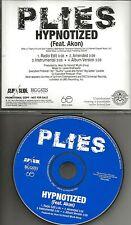 PLIES w/ AKON Hypnotized 4TRX w/ RARE EDIT & INSTRUMENTAL PROMO DJ CD Single