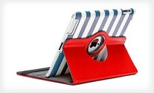 Kolorfish 360 Degree Rotation iClass Leather Case Cover For Apple iPad3 4 --Red
