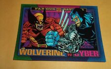 Wolverine vs Cyber # 161 - 1993 Marvel Universe Series 4 Base Trading Card