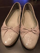Chanel CC Flats Ballerina Shoes Size 39