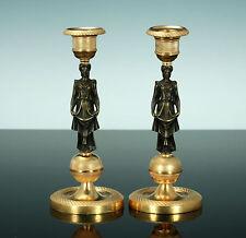 Paire klassizistische chandeliers bronze plaqué or 1830 chandeliers France