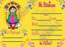 Vigencita Plis Invitaciones para llenar 12 pz  con Sobres BAUTIZO