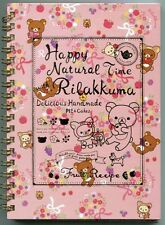 San-X Rilakkuma Relax Bear Spiral Notebook Memo #23 (Happy Natural Time)