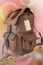 New Genuine Leather BackPack Rucksack Travel Bag For Men's and Women's