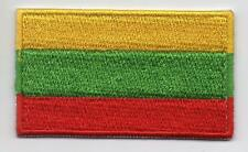Embroidered LITHUANIA Flag Iron on Sew on Patch Badge HIGH QUALITY APPLIQUE