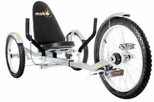 Mobo Triton Pro Ultimate Three Wheeled Cruiser Kids Adult Ride On Silver Trike