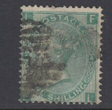 GB SURFACE PRINTED:1865 Emblems1/- green plate 4- F-L  SG 101 used