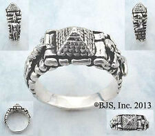 Silver Pyramid Ring, Egyptian Jewelry, Isis and Osiris, Egyptian Gods, Your Size
