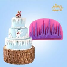 DIY 3D Cold Ice Shape Silicone Mold Fondant Cake Mold Decorating Baking Tool
