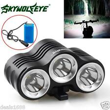 Rechargeable 12000LM Bike 3 x CREE XM-L T6 LED Headlamp Bicycle Light Outdoor