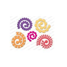 SPIRAL FLOWERS LARGE DIE-Impression Obsession Stamps-Quilling/Quilled Roses