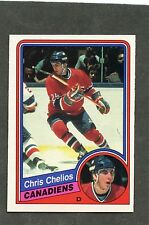 1984-85 OPC # 259 Chris Chelios Rookie RC