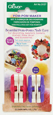 Clover Pom Pom Pompom Maker x 2 - Extra Small Sizes - Make 20mm and 25mm Pompoms