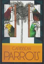 St Kitts 2012 MNH Caribbean Parrots 4v M/S Birds Macaw St Vincent Amazon