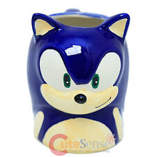Sonic The Hedgehog Sonic Face Molded Coffee Mug Ceramic Sculpture Cup