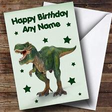 Spaventosa VERDE T Rex Dinosauro personalizzato bambini compleanno auguri carta