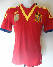 SPAIN FOOTBALL 2013/14 HOME SHIRT BY ADIDAS ADULTS SIZE MEDIUM BRAND NEW