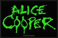 Alice Cooper - Green Logo Patch Aufnäher Heavy Metal 80s Hard Rock Kutte NEU