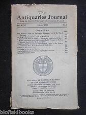 THE ANTIQUARIES JOURNAL - 1938 - Vol 18/Pt 4 - Welxwyn Roman Villa, Henry V Seal