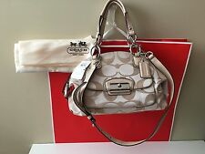 NWT Authentic COACH Kristin Signature Sateen Domed Satchel 19334 HARD TO FIND