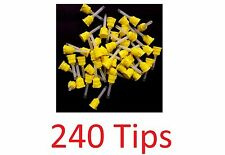 240 T-Style MIXPAC Dental Defend Impression Mixing Tips Yellow 4.2mm 1:1 FDA New