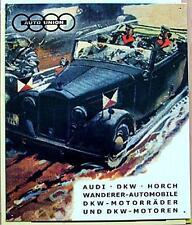 Altes Blechschild Oldtimer Auto Union Reklame Werbung gebraucht