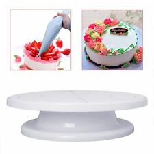 "11"" Revolving Rotating Cake Plate Decorating Turntable Kitchen Display Stand New"