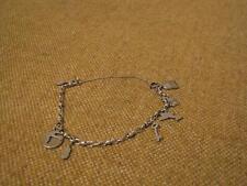 ▀█▀ ██ █▄ █▄ altes schönes Bettelarmband / 800er Silber ( Fach 55)