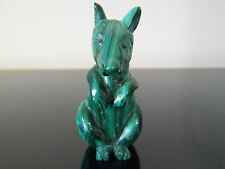 "Polished Malachite Carved Kanguru 3"" high x 2 5/8"" wide from tail tip to snout!"