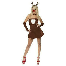 Smiffy's Fever Red Hot Reindeer Adult Women's Sexy Christmas Costume Size Medium