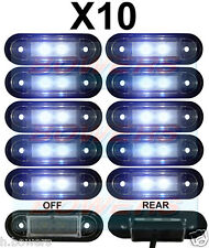 10x 12V/24V FLUSH FIT WHITE LED MARKER LAMPS/LIGHTS KELSA BAR TRUCK VAN LORRY
