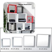 Design Cube Würfel Wandregal Cubes Retro Regal Würfelregal 4 Teilig Set  Weiss